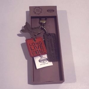 """Fossil Accessories - Fossil Butterfly """"Vintage at Heart"""" Keychain - NWT"""